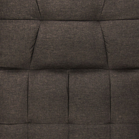Image of Plush Brown Split-Back Design Convertible Linen Tufted Futon w/ 2 Pillows