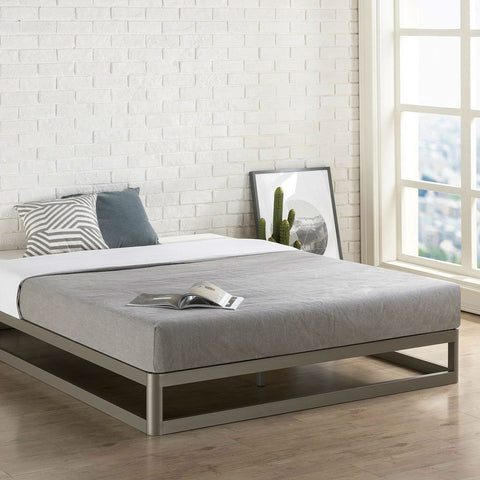Image of Full size Heavy Duty Modern Low Profile Metal Platform Bed Frame
