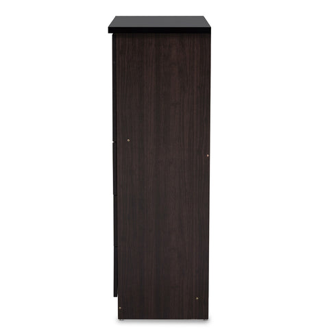 5-Drawer Dark Brown Wood Tall Buy Chest
