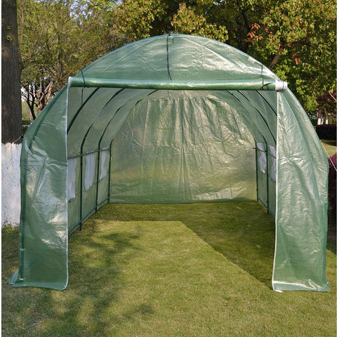 Image of Large 10 x 20 Ft Garden Greenhouse Kit with Green PE Cover