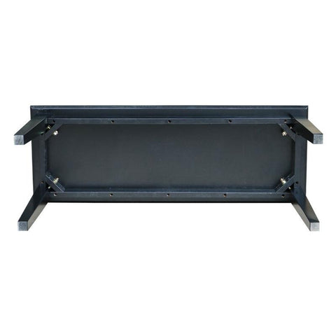 Image of Solid Wood Entryway Accent Bench in Black Finish