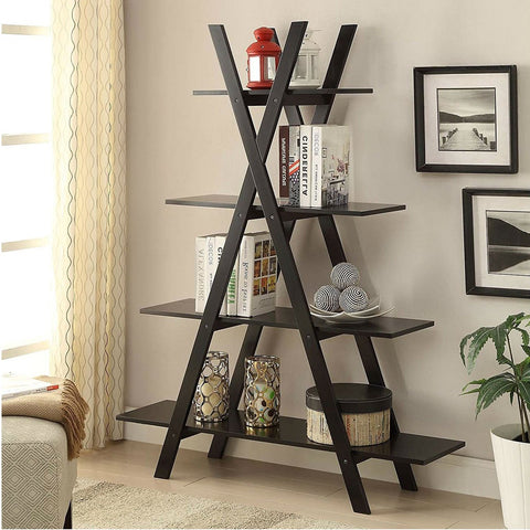 Modern A-Frame 4-Shelf Bookcase Bookshelf Display Shelves