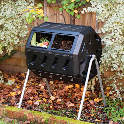 Image of 37-Gallon Tumbling Compost Bin Tumbler Composter - 5 Cu. Ft.
