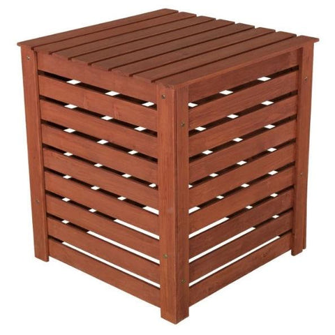 Image of Outdoor 90 Gallon Solid Wood Compost Bin with Brown Finish