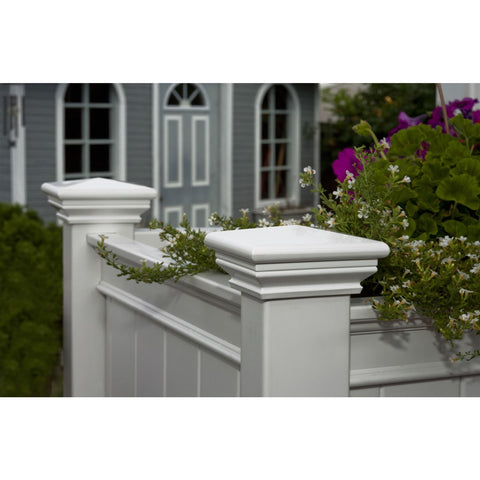 Image of Elevated Planter Raised Grow Bed in White Vinyl