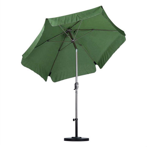 Image of Palm Green 7.5-Ft Outdoor Patio Umbrella with Champagne Metal Pole