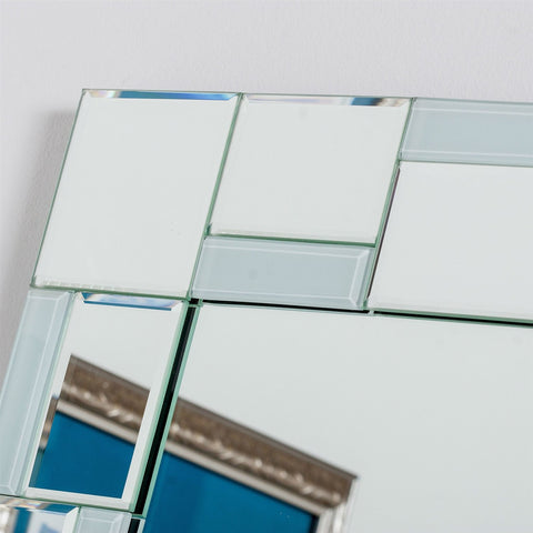 Modern 31.5 x 23.6 inch Rectangle Bathroom Mirror with Unique Border