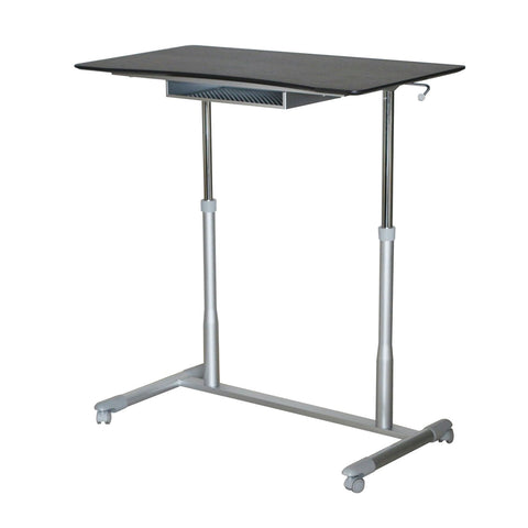 Espresso Adjustable Height Sitting or Standing Desk Stand Up Computer Table