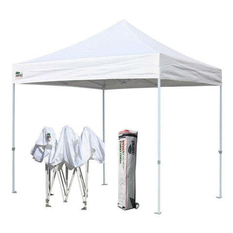 Outdoor Pop Up 10 x 10 Ft Gazebo with White Canopy