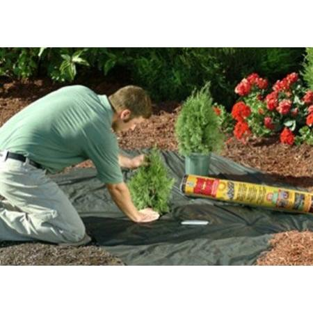 Image of 3' x 100' Weed Control Herbicide Alternative Landscape Fabric
