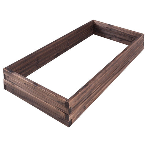 Solid Wood 4 ft x 2 ft Raised Garden Bed Planter 9 inch High