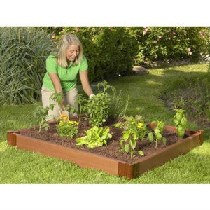 4 x 4 Foot Outdoor Raised Garden Bed Planter