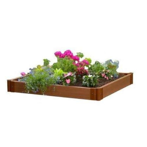 Image of 4 x 4 Foot Outdoor Raised Garden Bed Planter