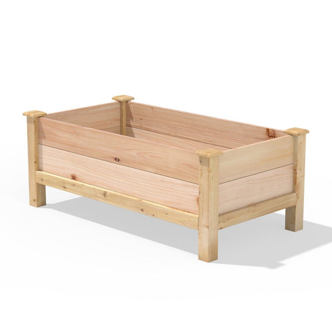 Farmhouse 24-in x 48-in x 19-in Cedar Elevated Victory Garden Bed - Made in USA
