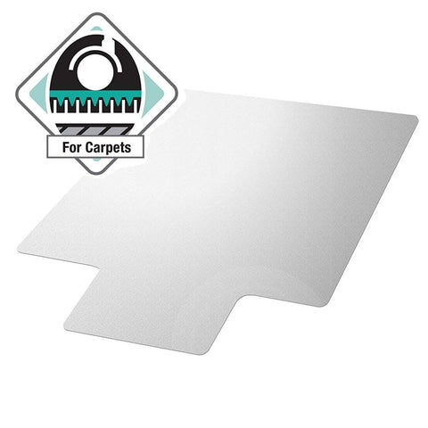 Image of Heavy Duty 47 x 35 inch Chair Mat with Lip for Low to Medium Pile Carpet Floor