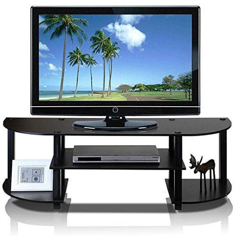 Espresso & Black TV Stand Entertainment Center - Fits up to 42-inch TV