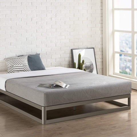 Image of Full size Modern Heavy Duty Low Profile Metal Platform Bed Frame
