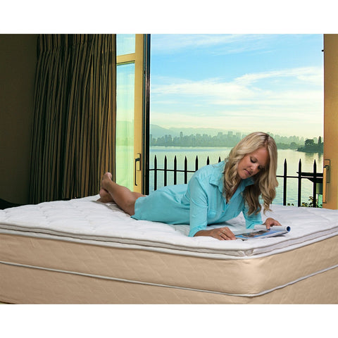 Image of Full size 10-inch High Profile Plush Pillow Top Innerspring Mattress