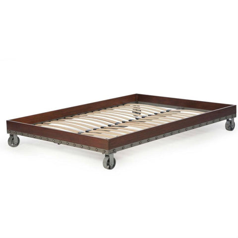 Image of Full size Heavy Duty Industrial Platform Bed Frame on Casters
