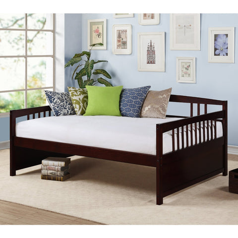 Full size Contemporary Daybed in Espresso Wood Finish