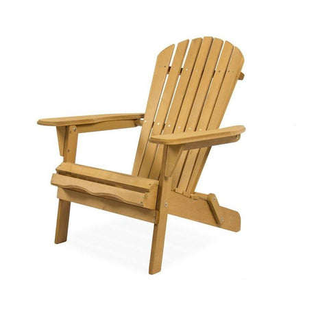 All Weather Adirondack Large Foldable Chair Natural Finish