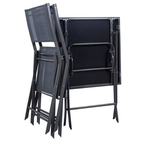 Image of Outdoor 3-Piece Patio Furniture Folding Table Chair Set