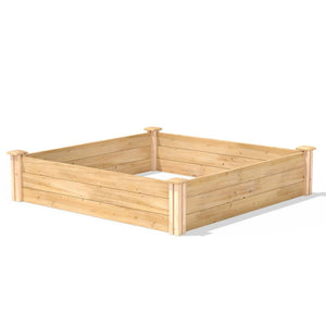 4ft x 4ft Outdoor Cedar Wood Raised Garden Bed Planter Box - Made in USA