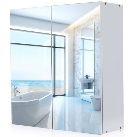 Image of Modern 24-inch Wall Mounted Bathroom Medicine Cabinet with Mirror