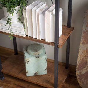 Living Room Kitchen Storage 4-Shelf Bookcase Bookshelf Vintage Industrial Style