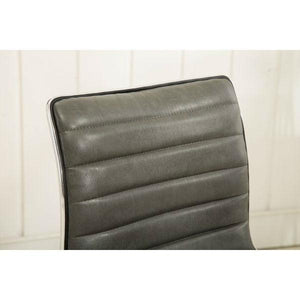 Heavy Duty Gray Channel-Tufted Conference Chair