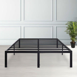 King size Modern Heavy Duty Black Metal Platform Bed Frame