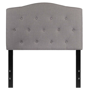 Twin size Light Grey Upholstered Button Tufted Headboard