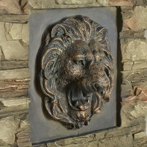 Image of Indoor / Outdoor Water Fountain with Bronze Hued Lion Head