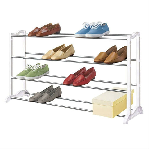 Image of 4-Tier Shoe Rack - Holds up to 20 Pair of Shoes