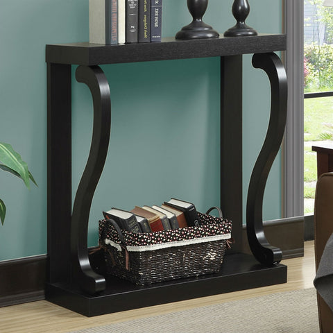 Image of Modern Curved Legs Rich Espresso Console Table