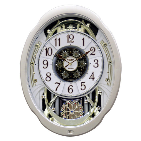 Moving Face Pendulum Wall Clock - Plays Melodies Every Hour