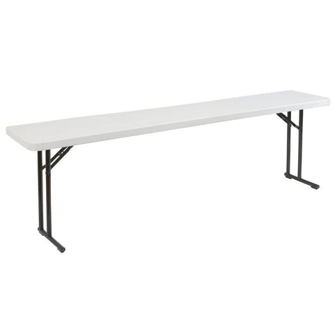 Image of Steel Frame 72-inch Rectangular Gray Plastic Top Folding Table