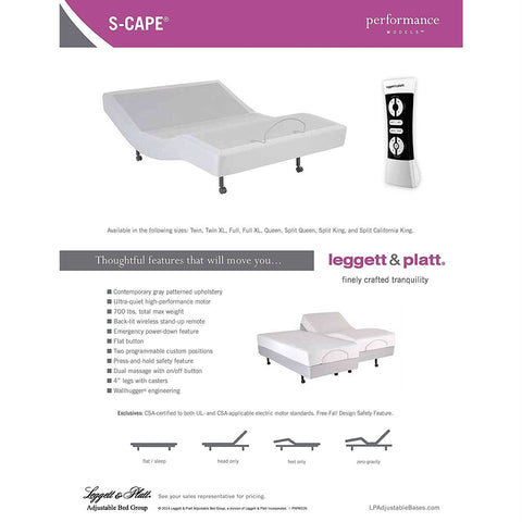 Image of Split King Heavy Duty Adjustable Bed Base with Wall-hugger Design
