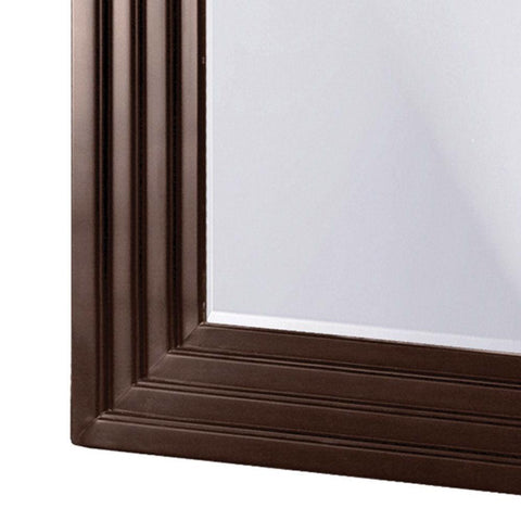 Image of Oversized Full Length Floor Mirror with Espresso Wood Frame