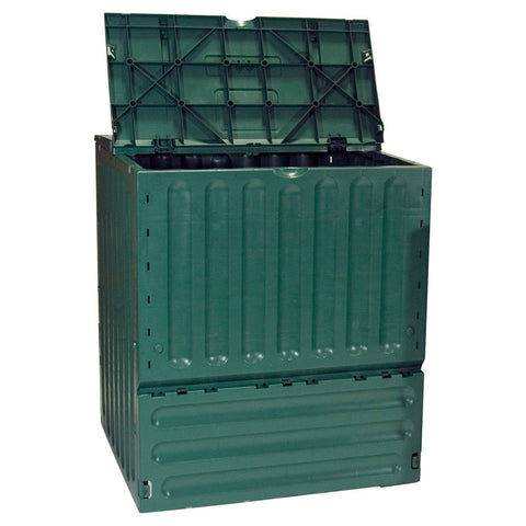 Image of Outdoor Garden Green Recycled Plastic 160-Gallon Compost Bin