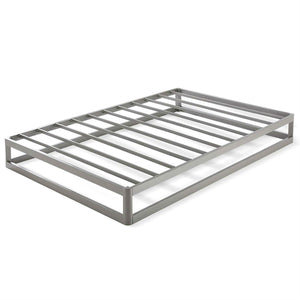 Twin size Modern Heavy Duty Low Profile Metal Platform Bed Frame