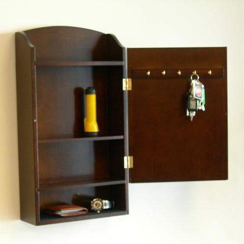 Image of Door / Wall Mount Organizer Letter Holder Mail Sorter in Dark Walnut