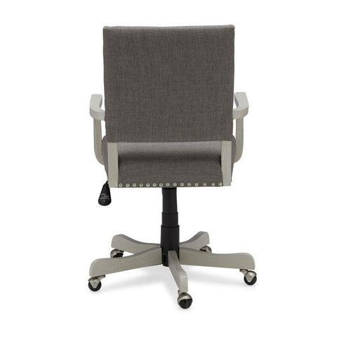 Charcoal Linen Upholstered Adjustable Height Tilt Task Office Chair