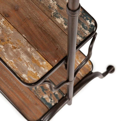 Image of Rustic Entryway Hanger Bench Storage Hall Tree