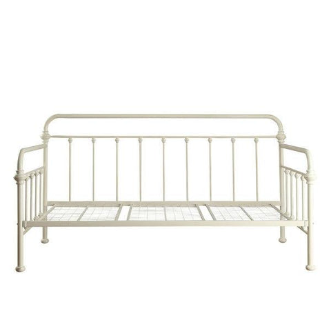 Twin size Contemporary Classic Style White Metal Daybed