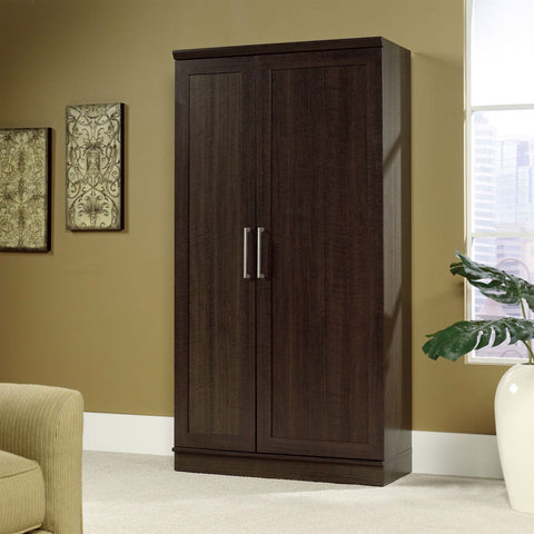 Multi-Purpose Living Room Kitchen Cupboard Storage Cabinet Armoire in Brown