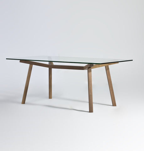 Image of Brooklynn Rectangular Dining Table - Glass Top