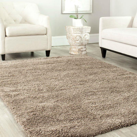 "Image of 6'7"" x 9'6"" Hand-Tufted Plush Taupe Area Rug"
