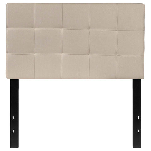 Image of Twin size Modern Beige Taupe Fabric Upholstered Headboard