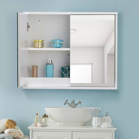 Image of Modern 22 x 18 inch Bathroom Wall Mirror Medicine Cabinet